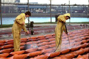 oilboom cleaning